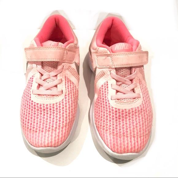 Nike Girls Pink Flex Runner Impact Velcro Sneaker
